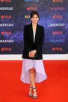 LONDON, ENGLAND - SEPTEMBER 13:  Emma Mackey attending the World premiere of the new Netflix series 'Maniac' at Southbank Centre on September 13, 2018 in London, England.<br /> CAP/MAR<br /> &copy;MAR/Capital Pictures