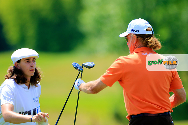 Miguel Angel Jimenez (ESP) during the first round of the Lyoness Open powered by Organic+ played at Diamond Country Club, Atzenbrugg, Austria. 8-11 June 2017.<br /> 08/06/2017.<br /> Picture: Golffile | Phil Inglis<br /> <br /> <br /> All photo usage must carry mandatory copyright credit (&copy; Golffile | Phil Inglis)