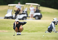 Maria Fassi lines her putt, Saturday, June 27, 2020 during the final round of the WAPT pro golf tournament in Bella Vista. Check out nwaonline.com/200627Daily/ for today's photo gallery. <br /> (NWA Democrat-Gazette/Charlie Kaijo)