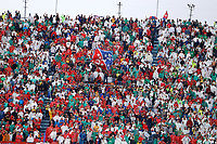 MEDELLIN - COLOMBIA, 22-02-2020: Hinchas del Medellín y Naciona animan a su equipo durante partido por la fecha 6 entre Deportivo Independiente Medellín y Atlético Nacional como parte de la Liga BetPlay DIMAYOR I 2020 jugado en el estadio Atanasio Girardot de la ciudad de Medellín. / Fans of Medellin and Nacional cheer for their team during Match for the date 6 between Deportivo Independiente Medellin and Atletico Nacional as a part BetPlay DIMAYOR League I 2020 at Atanasio Girardot stadium in Medellin city. Photo: VizzorImage / Donaldo Zuluaga / Cont