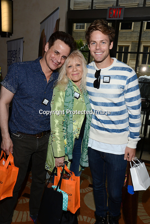 Christian LeBlanc, Ilene Kristen and Lachlan Buchanan attends the 2015 Daytime Emmy Gifting Suite on April 25, 2015 at Warner Brothers Stuido Lot  in Burbank, California, USA. The gift lounge was presented by OffTheWallIdeas.com.