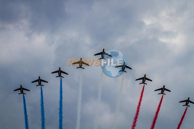 Fighterjets over Paris, Tour de France, Stage 21: Évry > Paris Champs-Élysées, UCI WorldTour, 2.UWT, Paris Champs-Élysées, France, 27th July 2014, Photo by Thomas van Bracht