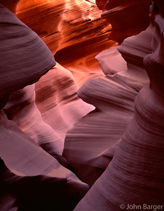 AZNEA_07 -  Erosion of Navajo Sandstone by water has resulted in the dramatic contours of Lower Antelope Canyon, Antelope Canyon Navajo Tribal Park, northeast Arizona, USA --- (4x5 inch original, File size: 6000x7691, 132mb uncompressed).