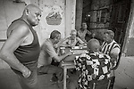 Havana, Cuba: A domino game on the street