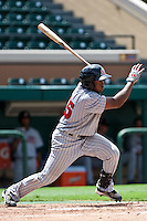 Estarlin De Los Santos (15) of the Ft. Myers Miracle during a game vs. the Lakeland Flying Tigers June 6 2010 at Joker Marchant Stadium in Lakeland, Florida. Ft. Myers won the game against Lakeland by the score of 2-0.  Photo By Scott Jontes/Four Seam Images
