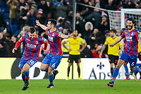 James McArthur of Crystal Palace celebrates scoring the winning goal in the 92nd minute  during the Premier League match between Crystal Palace and Watford at Selhurst Park, London, England on 12 December 2017. Photo by Carlton Myrie / PRiME Media Images.
