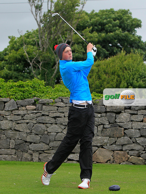 Paddy Bird (Co. Sligo) on the 1st tee during R2 of the 2016 Connacht U18 Boys Open, played at Galway Golf Club, Galway, Galway, Ireland. 06/07/2016. <br /> Picture: Thos Caffrey | Golffile<br /> <br /> All photos usage must carry mandatory copyright credit   (&copy; Golffile | Thos Caffrey)