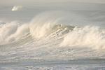 Windansea, La Jolla, California; large waves crash along the shoreline during an early winter storm