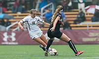 Newton, Massachusetts - September 3, 2017: NCAA Division I. Boston College (white) defeated Northeastern University, 2-1, at Newton Campus Soccer Field.