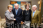 Eileen Nolan, Willie O'Leary, Theresa O'Leary and Tom Lawlor attending the Kilmoyley GAA social in the Ballyroe Heights Hotel on Saturday night last.