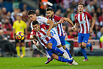 Angel Correa of Club Atletico de Madrid fights for the ball with Federico Ricca Rostagnol of Malaga CF during their La Liga match between Club Atletico de Madrid and Malaga CF at the Estadio Vicente Calderón on 29 October 2016 in Madrid, Spain. Photo by Diego Gonzalez Souto / Power Sport Images