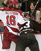 Alex Fallstrom (Harvard - 16), Garnet Hathaway (Brown - 23) - The Harvard University Crimson defeated the visiting Brown University Bears 3-2 on Friday, November 2, 2012, at the Bright Hockey Center in Boston, Massachusetts.