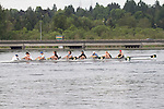 Rowing, Seattle, Pocock Rowing Center, Junior women's eight, workout, Lake Union, Washington State, spring, 2012,