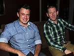 Trevor Delaney and Steven Farrell pictured at Mairead Kieran's 30th birthday in Brú. Photo:Colin Bell/pressphotos.ie