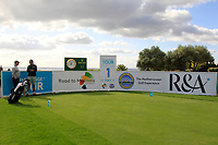 The 1st tee during the Pro-Am of the Challenge Tour Grand Final 2019 at Club de Golf Alcanada, Port d'Alcúdia, Mallorca, Spain on Wednesday 6th November 2019.<br /> Picture:  Thos Caffrey / Golffile<br /> <br /> All photo usage must carry mandatory copyright credit (© Golffile | Thos Caffrey)