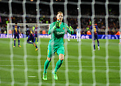 9th September 2017, Camp Nou, Barcelona, Spain; La Liga football, Barcelona versus Espanyol; Ter Stegen celebrates his teams first goal from Messi