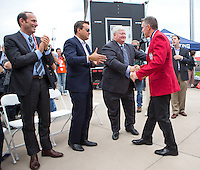 Kansas City, MO. - Friday, October 11, 2013: US Soccer Hall of Fame induction ceremony at Sporting Park.