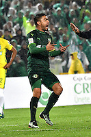 BOGOTA - COLOMBIA -25-02-2017: Stalin Motta, jugador de La Equidad, en acción, durante partido entre La Equidad y Atletico Nacional, por la fecha 5 de la Liga Aguila I-2017, jugado en el estadio Nemesio Camacho El Campin de la ciudad de Bogota. / Stalin Motta, player of La Equidad, in action, during a match between La Equidad and Atletico Nacional, for the  date 5 of the Liga Aguila I-2017 at the Nemesio Camacho El Campin Stadium in Bogota city, Photo: VizzorImage  / Luis Ramirez / Staff.