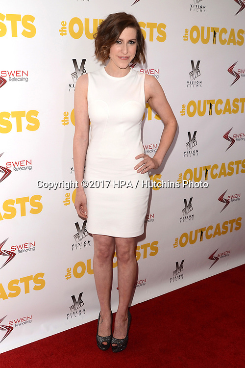 """LOS ANGELES - APR 13:  Eden Sher at the """"The Outcasts"""" Premiere at the Landmark Regent Theater on April 13, 2017 in Westwood, CA"""