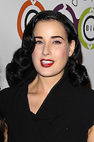 WEST HOLLYWOOD, CA - NOVEMBER 14:  Dita Von Teese at the opening of Kimberly Snyder's Glow Bio Juice Bar at Glow Bio on November 14, 2012 in West Hollywood, California. Credit: mpi22/MediaPunch Inc. /NortePhoto