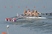 Brest, Belarus. USA. BLW4X,   Bow,Devery KARZ, Lauren NELSON, Elizabeth ROBINSON and Kimberly HOPEWELL, as the  the start.  2010. FISA U23 Championships. Thursday,  22/07/2010.  [Mandatory Credit Peter Spurrier/ Intersport Images]