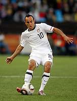 Landon Donovan of USA. USA defeated Algeria 1-0 in stoppage time in the 2010 FIFA World Cup at Loftus Versfeld Stadium in Pretoria, Sourth Africa, on June 23th, 2010.