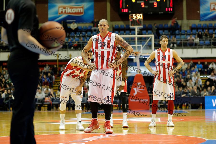 Maik Zirbes Crvena Zvezda - Cedevita kosarka ABA regionalna liga 4.1.1016. Januar 4. 2016. (credit image & photo: Pedja Milosavljevic / STARSPORT)
