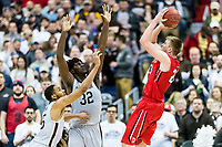 Washington, DC - MAR 10, 2018: Davidson Wildcats forward Peyton Aldridge (23) hits a fade away jump shot during semi final match up of the Atlantic 10 men's basketball championship between Davidson and St. Bonaventure at the Capital One Arena in Washington, DC. (Photo by Phil Peters/Media Images International)