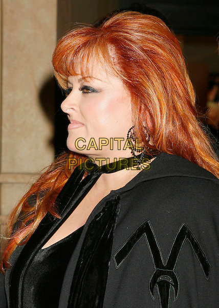 "WYNONNA JUDD.Arrivals at ""CMT Giants"" Honoring Reba McEntire held at the Kodak Theatre, Hollywood, LA, California, USA,.26 October 2006..portrait headshot profile black top cape.Ref: ADM/RE.www.capitalpictures.com.sales@capitalpictures.com.©Russ Elliot/AdMedia/Capital Pictures."
