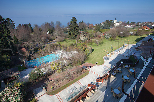 21.03.2016. Hotel Ermitage, Evian, France. Euro 2016 hotel and training facilities for the German mens national football team.