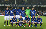 Everton team group back row from left: James McCarthy, Romelu Lukaku, Sylvain Distin, Phil Jagielka, Tim Howard and Gareth Barry of Everton<br /> Front row from left: Steven Naismith, Leighton Baines, Leon Osman, Aidan McGeady and Tony Hibbert of Everton - UEFA Europa League - Everton vs  Lille - Goodison Park Stadium - Liverpool - England - 6th November 2014 - Pic Simon Bellis/Sportimage