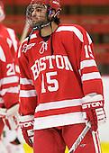 Ryan Santana (BU - 15) - The Boston University Terriers defeated the Harvard University Crimson 6-5 in overtime on Tuesday, November 24, 2009, at Bright Hockey Center in Cambridge, Massachusetts.