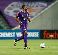 1st February 2020; HBF Park, Perth, Western Australia, Australia; A League Football, Perth Glory versus Melbourne Victory; Gregory Wuthrich of the Perth Glory runs the ball through the middle