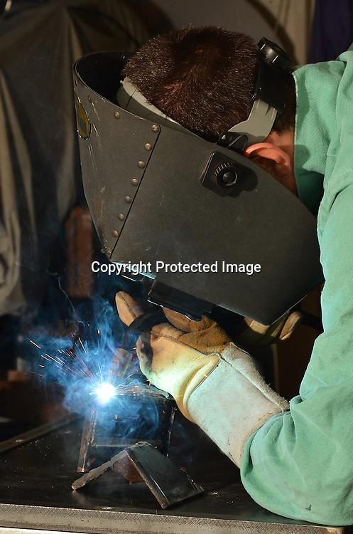 Stock Photo of a man welding Stock photo of a welder