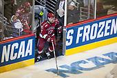 Phil Zielonka (Harvard - 72), Sean Malone (Harvard - 17) - The University of Minnesota Duluth Bulldogs defeated the Harvard University Crimson 2-1 in their Frozen Four semi-final on April 6, 2017, at the United Center in Chicago, Illinois.