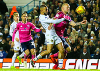 Queens Park Rangers' Toni Leistner handles the ball in the box<br /> <br /> Photographer Alex Dodd/CameraSport<br /> <br /> The EFL Sky Bet Championship - Leeds United v Queens Park Rangers - Saturday 8th December 2018 - Elland Road - Leeds<br /> <br /> World Copyright &copy; 2018 CameraSport. All rights reserved. 43 Linden Ave. Countesthorpe. Leicester. England. LE8 5PG - Tel: +44 (0) 116 277 4147 - admin@camerasport.com - www.camerasport.com