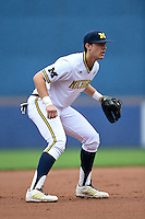 Michigan Wolverines infielder Drew Lugbauer (17) during the first game of a doubleheader against the Siena Saints on February 27, 2015 at Tradition Field in St. Lucie, Florida.  Michigan defeated Siena 6-2.  (Mike Janes/Four Seam Images)