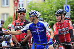 Marcel Kittel (GER) Quick-Step Floor greets White Jersey leader Stefan Kung (SUI) and Olympic Champion Greg Van Avermaet (BEL) BMC Racing Team wait for the start of Stage 2 of the 104th edition of the Tour de France 2017, running 203.5km from Dusseldorf, Germany to Liege, Belgium. 2nd July 2017.<br /> Picture: Eoin Clarke | Cyclefile<br /> <br /> <br /> All photos usage must carry mandatory copyright credit (&copy; Cyclefile | Eoin Clarke)