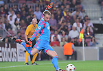 21.10.2014 Barcelona, Spain. UEFA Champions League matchday 3 Group 3. Picture show Jasper Cillessen in action during game between FC Barcelona against Ajax at Camp Nou