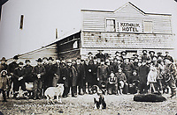 BNPS.co.uk (01202 558833)<br /> Pic: Elstob&Elstob/BNPS<br /> <br /> Keewalik Hotel - Prospecters enroute to the Kobuk River.<br /> <br /> Fascinating photos documenting the famous Alaska 'gold rush' have come to light 120 years later.<br /> <br /> Thousands of people chasing riches ventured into the North American wilderness after gold was discovered in Nome in 1899.<br /> <br /> Over the next decade a staggering 112 tonnes of gold was sourced.<br /> <br /> Unsurprisingly, everyone wanted a piece of the action, leading to a huge influx of people to the area.<br /> <br /> Its transformation into a thriving metropolis was documented by acclaimed American photographer Frank Nowell.