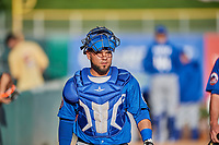 Johnny Monell (21) of the Las Vegas 51s before the game against the Salt Lake Bees at Smith's Ballpark on May 7, 2018 in Salt Lake City, Utah. The 51s defeated the Bees 10-8. (Stephen Smith/Four Seam Images)