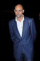 Mark Strong<br /> attending the 57th BFI London Film Festival Closing Night Gala World Premiere of 'Saving Mr Banks', Odeon Cinema, Leicester Square, London, England. <br /> 20th October 2013<br /> half length blue suit white shirt <br /> CAP/MAR<br /> © Martin Harris/Capital Pictures