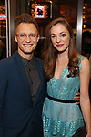 Nathan Johnson and Laura Osnes attends the Broadway Opening Night performance of The Roundabout Theatre Company production of 'Time and The Conways'  on October 10, 2017 at the American Airlines Theatre in New York City.