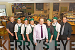 THE TEAM from the New Applegreen Service Station and Cafe at Fairies Cross, Tralee which opened yesterday, (Wednesday) l-r: Heather Hartley, Louise Ennis, Denise Murphy, Lisa O'Halloran, Ian Cronin (manager), Laura Fitzgerald (Cafe manager), Lisa Murphy and Peter Cronin.