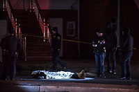 A quadruple shooting left one man dead and three others injured after a shooting at a gender reveal party on East 51 Street and  Kings Highway on Saturday, March, 3, 2018.