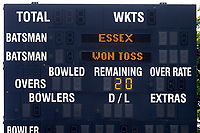The scoreboard shows that Essex  have won the toss ahead of Gloucestershire vs Essex Eagles, NatWest T20 Blast Cricket at The Brightside Ground on 13th August 2017