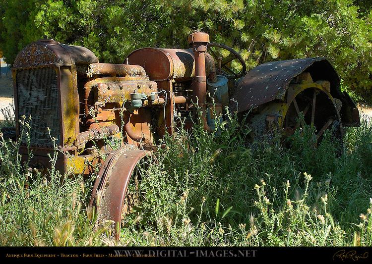 Antique Tractor, Farm Field, Mariposa, California