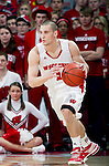 Wisconsin Badgers guard Ben Brust (1) handles the ball during a Big Ten Conference NCAA college basketball game against the Illinois Fighting Illini on Sunday, March 4, 2012 in Madison, Wisconsin. The Badgers won 70-56. (Photo by David Stluka)