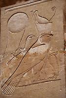 Afrique/Egypte/Deir El Bahari: Le temple d'Hatchepoust - Détail intérieur
