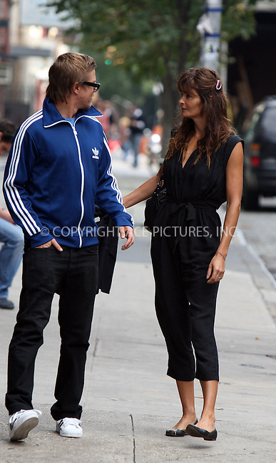 WWW.ACEPIXS.COM . . . . .  ....October 14 2011, New York City....Supermodel Helena Christensen out walking with a friend in Noho on October 14 2011 in New York City....Please byline: PHILIP VAUGHAN - ACE PICTURES.... *** ***..Ace Pictures, Inc:  ..Philip Vaughan (212) 243-8787 or (646) 679 0430..e-mail: info@acepixs.com..web: http://www.acepixs.com